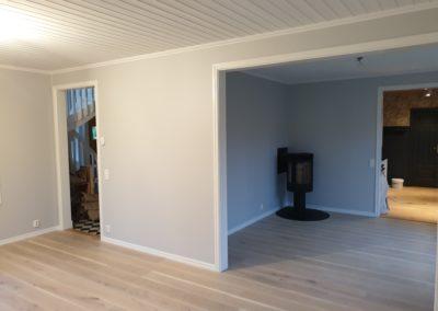 Målning paneltaket, bredspackling och målning väggar med Flutex S7 s1500-n