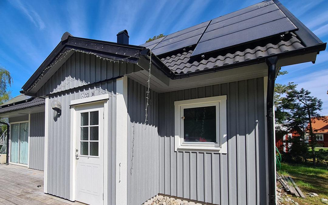 Utvändig målning hus på Torö
